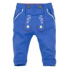 Baby und Kleinkind Lederhose Jogginghose ´Gipfelkraxler´ blau