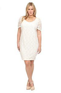 Off-White Crochet Sheath Dress | Dresses AND its actually plus size-awesome