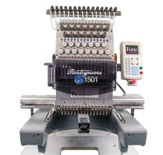 The GS1501, a single-head, 15-needle embroidery machine, includes a 360mm x 500mm sewing field, auto thread trimmer, a memory capacity of 2 million stitches and more. Perfect for both large shops and start-ups. Pantograms Mfg. Co., Tampa, www.pantograms.com