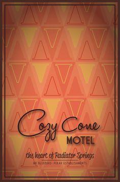 Pixar Establishments:  Cozy Cone Motel