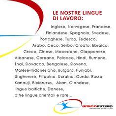 Le nostre lingue di lavoro: