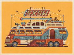 SXSW 2015 Official Poster by DKNG
