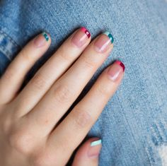Mismatched Nails: Colorblock French Tip Nails