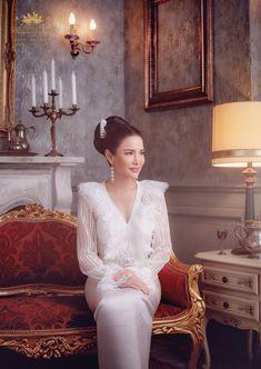 Traditional Thai Clothing, Traditional Dresses, Thai Wedding Dress, Wedding Dresses, Hijab Dress Party, Thai Dress, Silk Dress, Designer Dresses, Fashion Dresses
