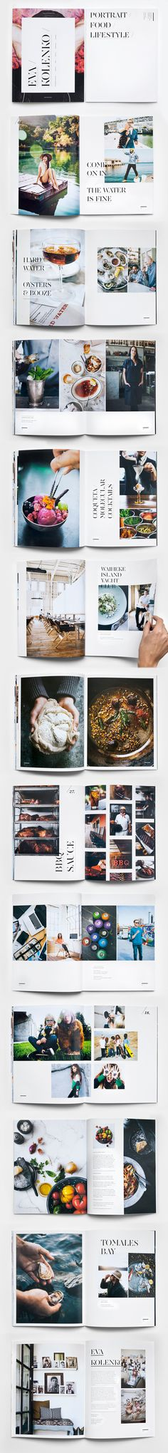 Excellent #booklet layout to showcase this killer photography. #Brochure ideas for photographers.