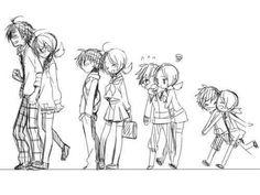 Cute Drawings Of Couples... development: friendship -> friendship+love