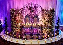 We offer the best Backdrops and Asian weddings stages, contempory candle wall, crystal backdrops and wedding stages in Birmingham.