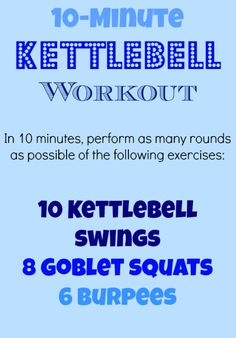 You'll love this turbo toning 10-Minute, High-Intensity Kettlebell Workout. #fitness | Health.com