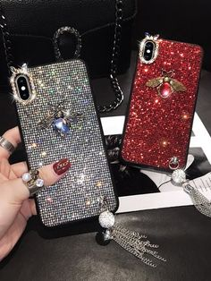 Introducing our luxurious Cases for the iPhone. Available in 2 beautiful colours. DM us for enquiries. Bling Phone Cases, Cell Phone Cases, Iphone Cases, S8 Phone, Diamond Glitter, Iphone Models, Phone Covers, Charm Jewelry, Luxury Branding