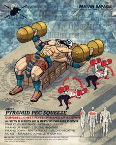 chest exercise: savage dumbbell chest flyes