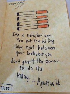 Tfios its a metaphor