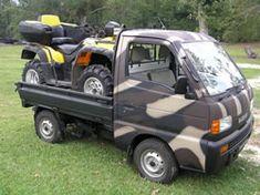 Japanese Mini Trucks are available from Alcan, Honda Acty, Suzuki Carry, Subaru Sambar, Mitsubishi Minicab, Mazda Scram.