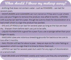 When should I throw out my makeup?