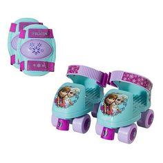 Disney Frozen Roller Skate & Knee Pad Set - Girls