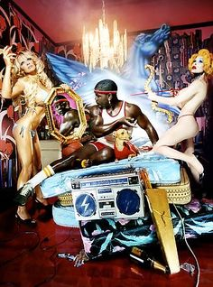 DAVID LA CHAPELLE | this picture is made in 2005 the series called most perfect work! i love the over the top!