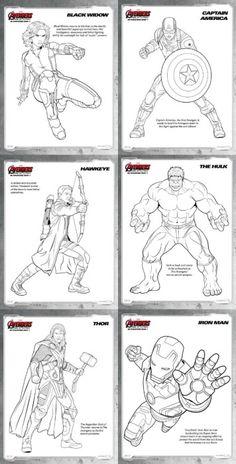 Avengers: Age of Ultron FREE Printable Superhero Coloring Sheets ...