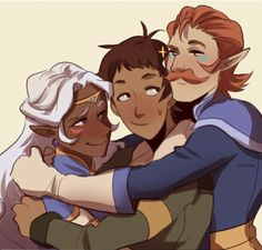 5/5 happy birthday lance hugs (allura and coran)