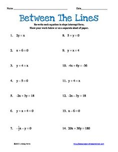 Worksheet Linear Equations Worksheet equation student and linear function on pinterest graphing equations with color worksheet