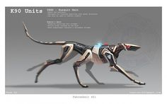 The mechanical hound represents government control of society. Futuristic Art, Futuristic Technology, Technology Gadgets, Futuristic Armour, Technology Design, Computer Technology, Energy Technology, Character Inspiration, Character Design