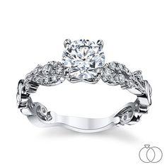 White Gold Diamond Engagement Ring Setting cttw by Kirk Kara Engagement Ring Styles, Designer Engagement Rings, Engagement Ring Settings, Diamond Engagement Rings, Diamond Solitaire Earrings, Diamond Jewelry, Jewelry Rings, Jewelery, Stylish Rings