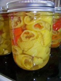 Canning Peppers-You HAVE to make these because you CANNOT find them in store with out Yellow Dye!  Gross!