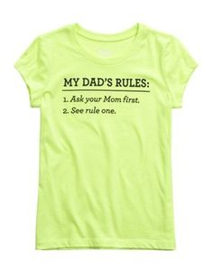 Dad's Rules Graphic Tee