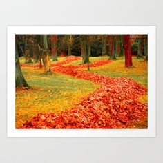 Autum Art Print by LoRo  Art & Pictures - $16.55