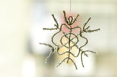 wikiHow to Make a Sparkly Snowflake Ornament -- via wikiHow.com