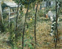angrand painting | Charles Angrand – In the Garden