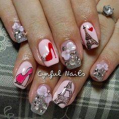 Nails Nail Swag, Classy Nails, Stylish Nails, Paris Nails, Paris Nail Art, Modern Nails, Manicure E Pedicure, Cute Nail Art, Hot Nails