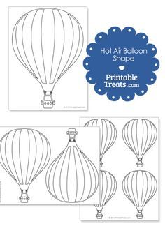 Printable Hot Air Balloon Shape from PrintableTreats.com