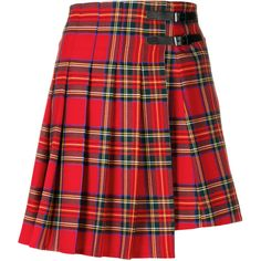 P.A.R.O.S.H. tartan pleated skirt ($362) ❤ liked on Polyvore featuring skirts, red, red pleated skirt, tartan skirt, tartan plaid skirt, red skirts and tartan pleated skirt