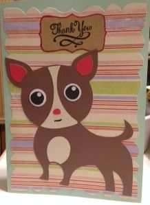 Doggie Thank You Card, cut with Silhouette Cameo