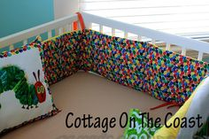 Custom 3 Piece Crib Set Made From Very Hungry by CottageOnTheCoast