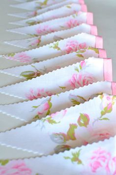 New Handmade Vintage Buntings in the Shop Adorable Vintage Bunting . Make Bunting, Bunting Garland, Bunting Banner, Bunting Ideas, Buntings, Rose Garland, Vintage Roses, Vintage Floral, Wedding Bunting
