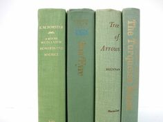 Soft Green Vintage Books / Book Decor / Decorative by redladybugz