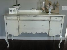 European Paint Finishes: ~ Shabby Chic Antique Sideboard ~