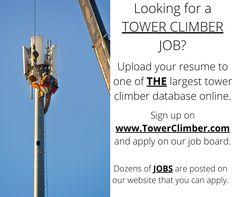 190 Tower Climber Jobs Ideas In 2021 Tower Climber Tower Climbers