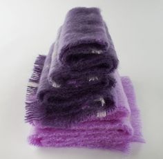 Brushed Mohair Scarves from Cushendale Woollen Mills, Kilkenny Shades Of Purple, Deep Purple, Ireland Culture, Scottish People, Caldo, Woolen Mills, City Living, Furniture Styles, Clothing Accessories