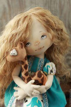 Коллекционные куклы ручной работы. Ярмарка Мастеров - ручная работа. Купить Авторская текстильная кукла Олеся. Handmade. Тёмно-бирюзовый