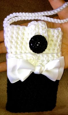 Fancy cell phone /camera case black and by GrowingloveDesigns, $9.00