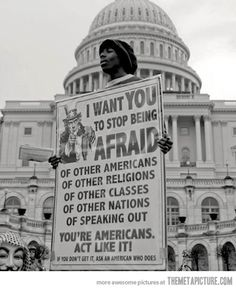 You're Americans- Act Like It!