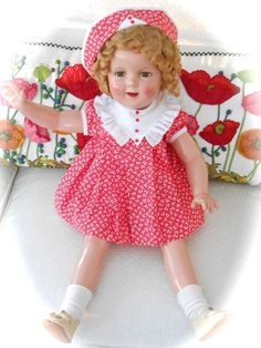 """Vintage 1930s Composition 27"""" Shirley Temple Doll - EXCELLENT!"""
