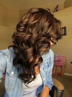 Beautiful brown and dark brown highlights