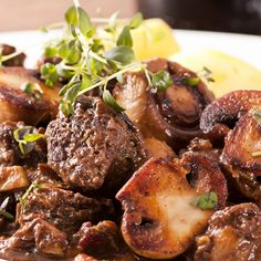 A warming, filling and delicious beef stew meal for the whole family.. Easy Classic Beef Bourguignon Recipe from Grandmothers Kitchen.