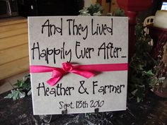 Vinyl Lettering on Tile makes a great wedding gift!    My Talking Walls