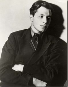 Poet Delmore Schwartz (1913-1966), New York City. Uncredited and undated photograph.