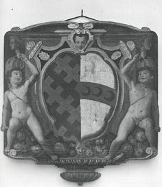 Allen Memorial Art Museum , Santi di Tito, Italian, Florentine, 1536-1603. Armorial Panel - insieme