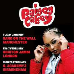 Paigey Cakey Announces New Tour in 2017  Following the release of her huge new track Boyfriend (already over 60K views in a week) - the latest release from her new Red Velvet EP Paigey announces a 3-date tour spanning London Birmingham and Manchester.