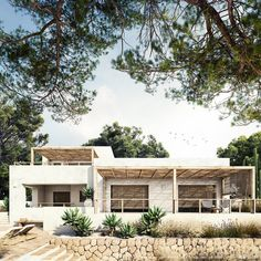 Ca la Siesta — Bataille Living | Exclusive Mediterranean homes by Jessica Bataille Mediterranean Homes Exterior, Mediterranean House Plans, Mediterranean Style, Desert Homes, Spanish House, Tropical Houses, Exterior Design, Future House, Beautiful Homes